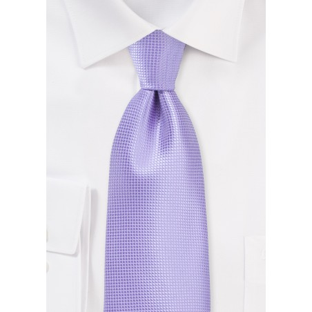 XL Length Tie in Violet Tulip