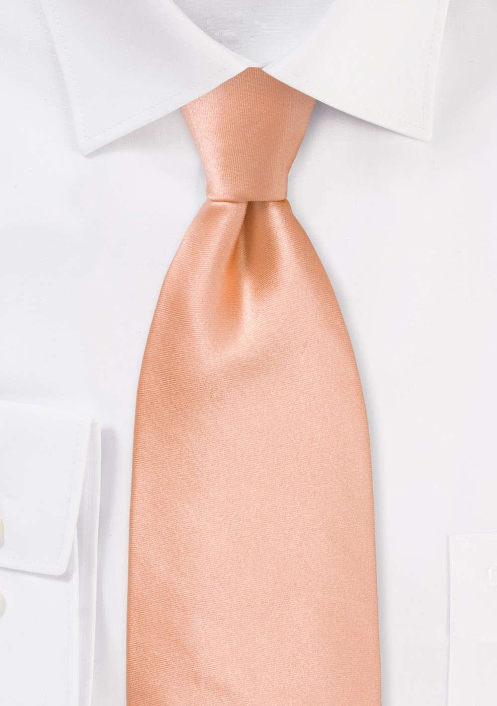 Kids Silk Tie in Coral Peach