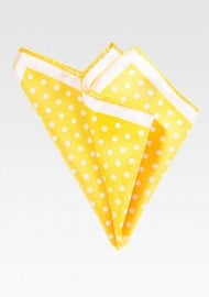 Daffodil Yellow Pocket Square