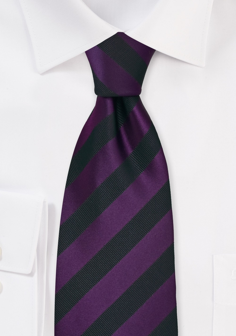 Black and Purple Striped Mens Tie