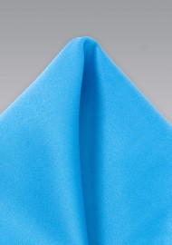 Cyan Blue Pocket Square