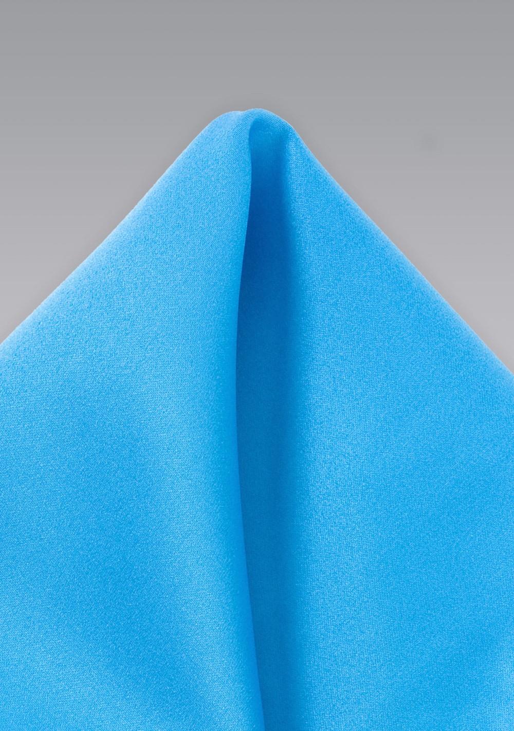 Cyan Blue Pocket Square