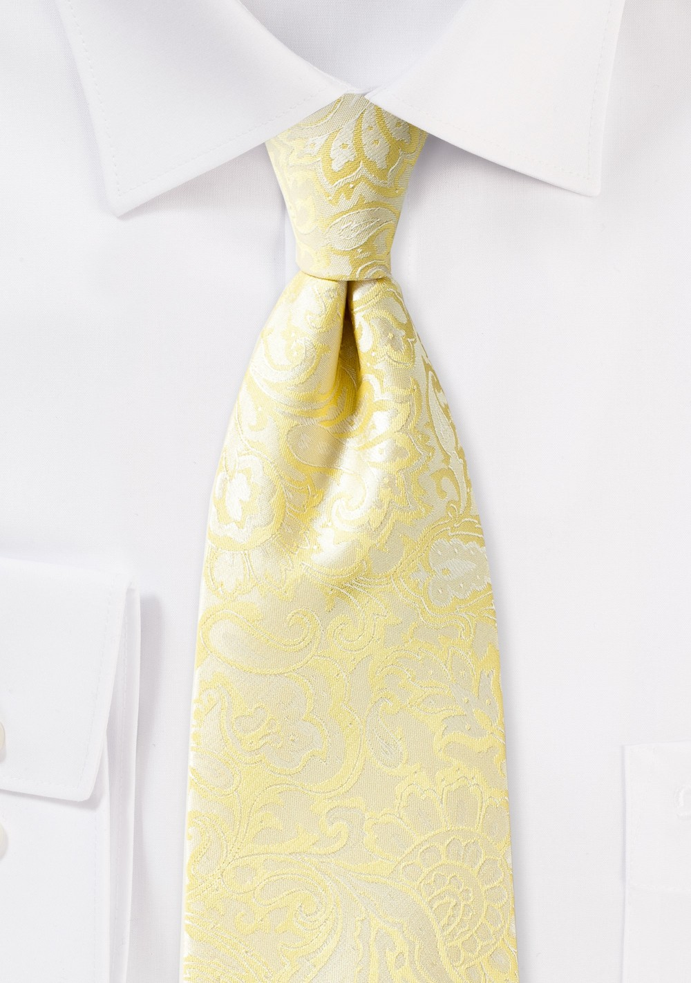 Sunshine Yellow Paisley Tie