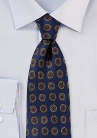 Retro Designer Silk Tie