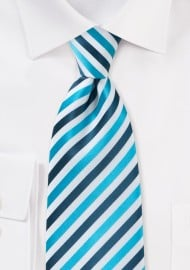 Comtemporary Blue Striped Tie in XL