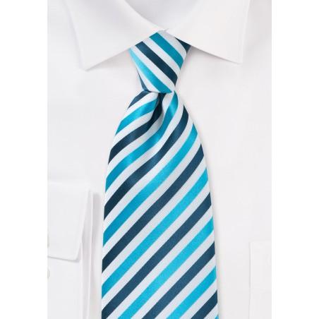 Comtemporary Blue Striped Tie