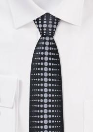 Modern Skinny Tie in Black and Grey
