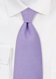 Light Lavender Textured Tie in XL