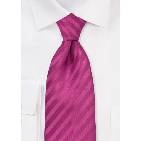 Raspberry Pink Striped Tie