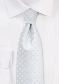 Solid White Polka Dot Tie