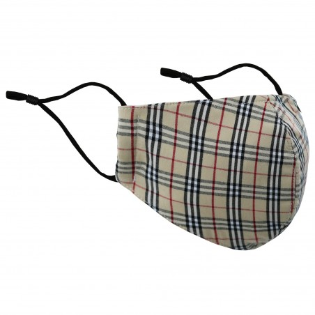 Designer Tartan Plaid Face Mask