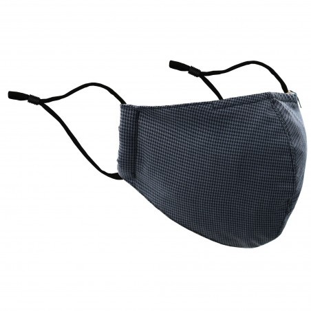 Charcoal Houndstooth Check Mask