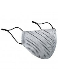 Silver and Black Polka Dot Face Mask