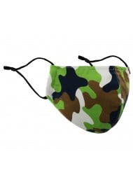 Green Camo Filter Face Masks