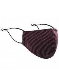 Pin Stripe Face Mask in Merlot Red