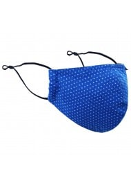 Polka Dot Mask in Royal Blue
