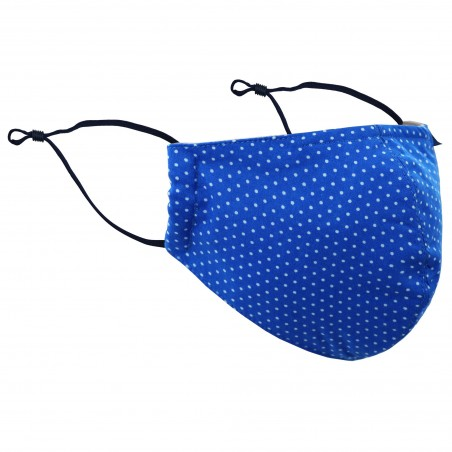Polka Dot Mask in Royal Blue
