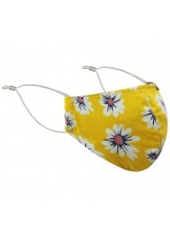 Yellow Floral Face Mask