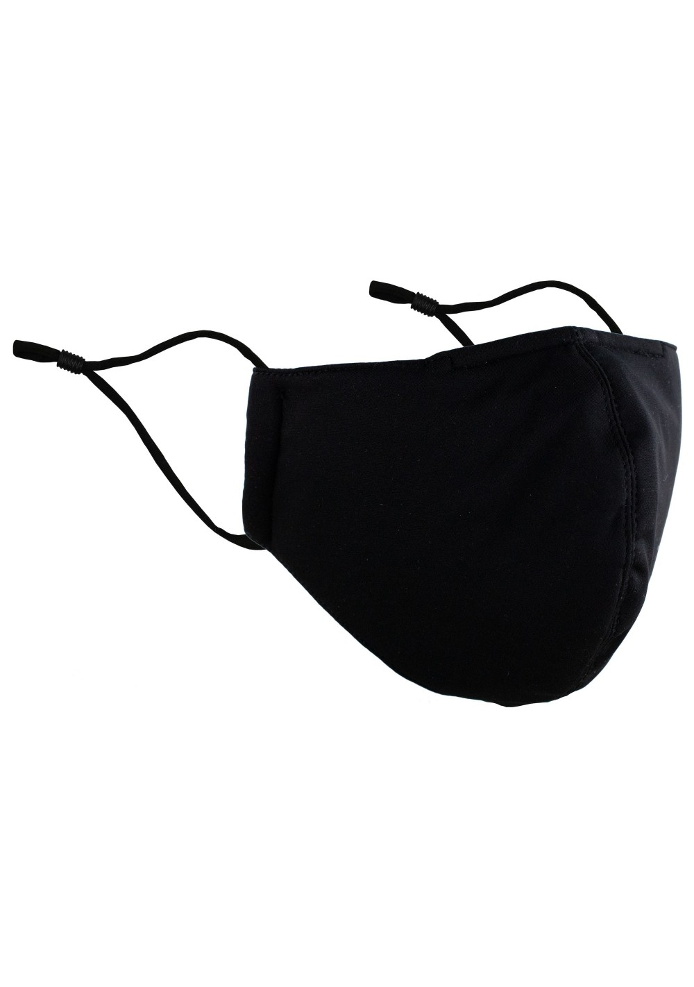 Black Microfiber Filter Adjustable Face Mask