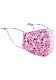 Pink Summer Flower Print Face Mask