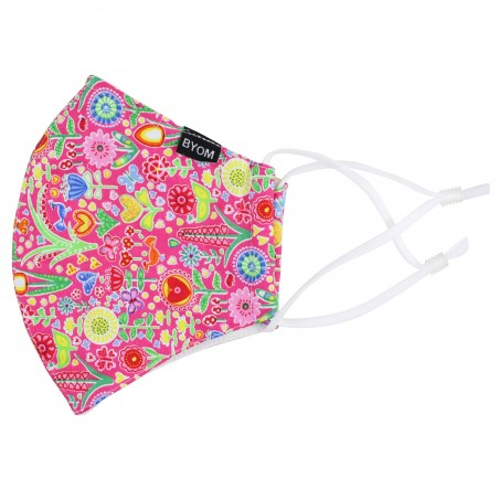 Colorful Pink Summer Filter Face Mask