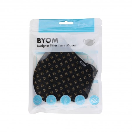 fabric face mask with medical grade filter mask bag