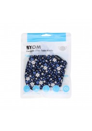 Fun Floral Print Filter Mask in Navy in Bag