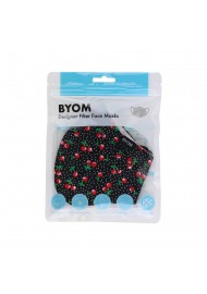 Cherry Print Cotton Filter Face Mask in Bag