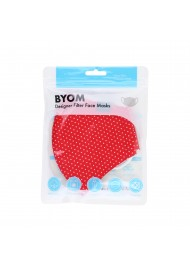 Cherry Red and White Pin Dot Print Face Mask in Bag