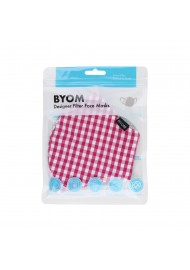Gingham Check Cotton Mask in Pink in Mask Bag
