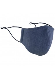 Dark blue cotton filter Face Mask