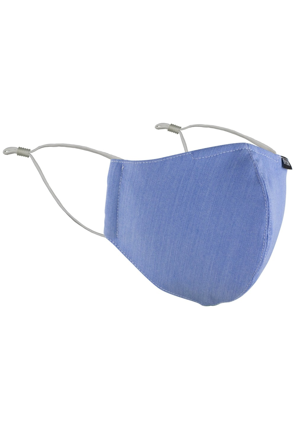 Solid Light Blue Filter Mask in Cotton