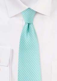 Bright Pool Colored Pin Dot Tie