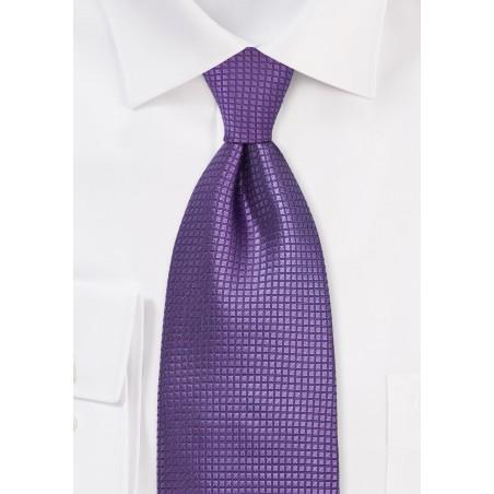 Extra Long Silk Tie in Electric Purple