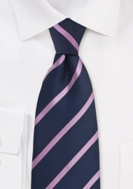 Dark Eggplant and Pink Striped Tie