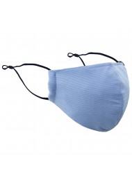 Light Blue Pinstripe Filter Face Mask