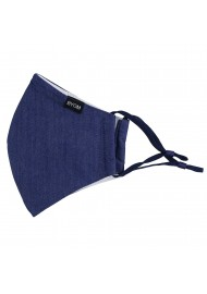 Solid Dark Blue Navy Adjustable Face Mask
