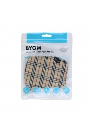 Designer Tartan Plaid Face Mask in Bag