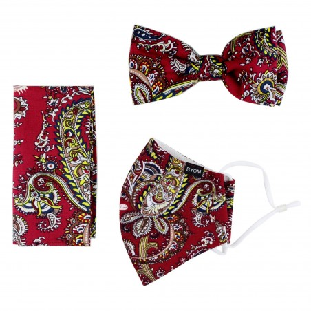 Bow Tie and Paisley Face Mask Gift Set
