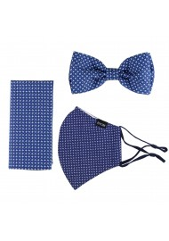 Bow Tie and Face Mask Gift Set in Navy