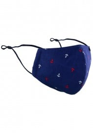 Mask in Navy Anchor Print