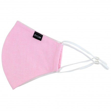 Solid Pink Cotton Filter Mask