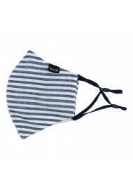 Bengal Stripe Mask in Navy and White