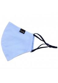 Sky Blue Pencil Striped Face Mask