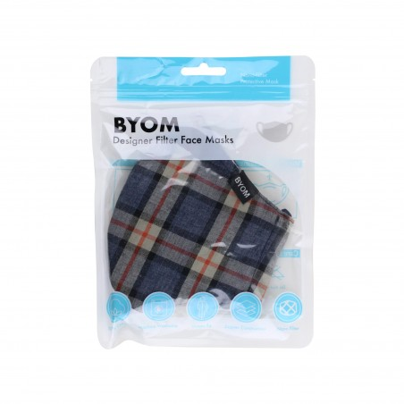 Scottish Plaid Face Mask in Bag