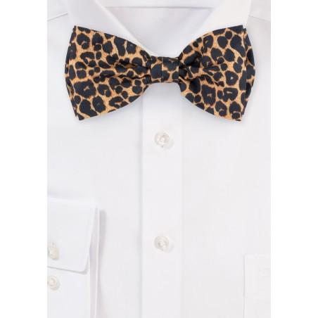bow tie in cheetah print