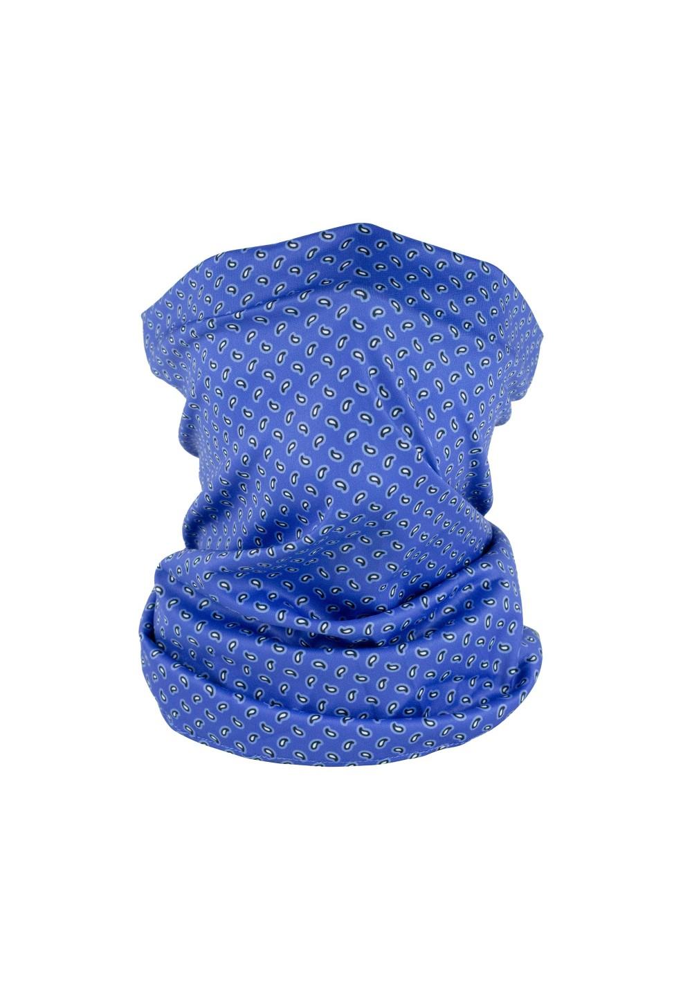 tiny paisley design neck gaiter mask in horizon blue