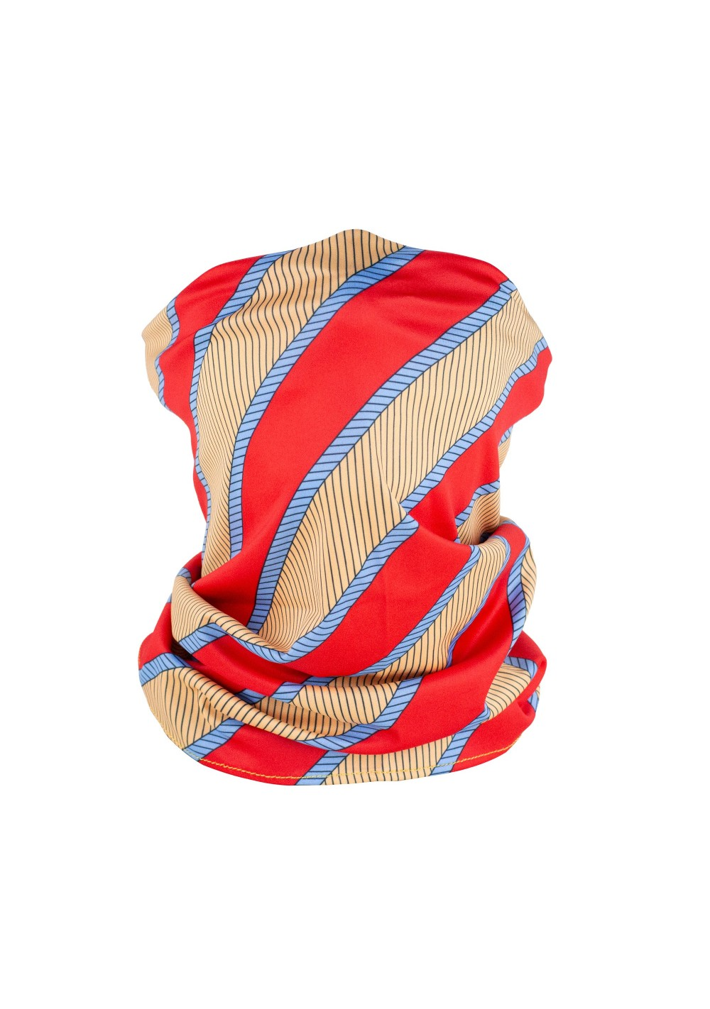 vintage striped neck gaiter