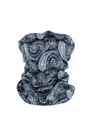 gray and black paisley designer neck gaiter mask