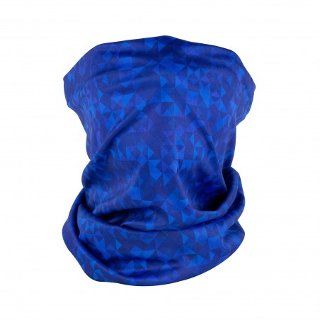 kaleidoscope print neck gaiter in blues